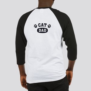 Cat Dad [b/w] Baseball Jersey
